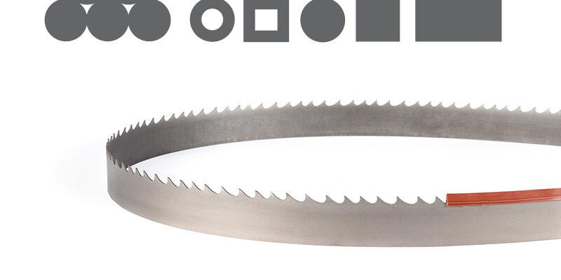 [:nl]DoALL Penetrator Bi-Metaal lintzaag [:en]Picture of sawing with the Silencer GP Bi-Metal band saw blade[:]